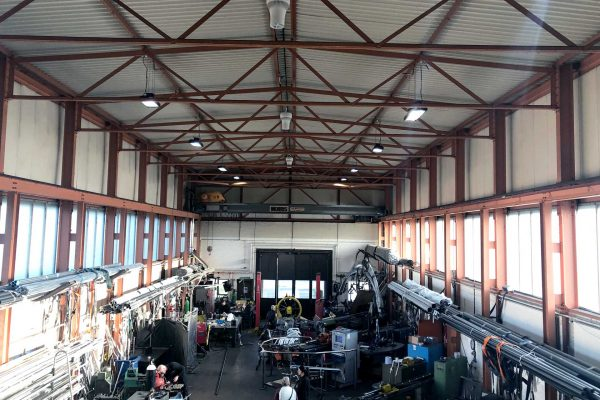 Airius Workshop Cooling Fans In Industrial Shed