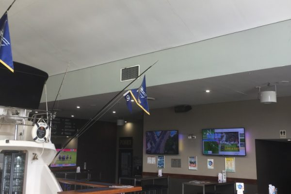 Airius Q50 for cooling in the Boathouse Tavern Coomera QLD